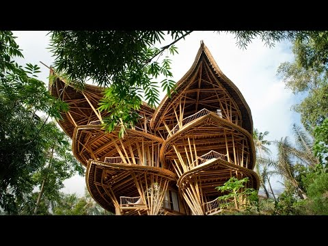 Ibuku's Stunning Six-Story Bamboo Luxury Homes (and Other Structures)