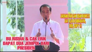 Bu Risma & Cak Eri Dapat Dua Jempol Dari Presiden Jokowi