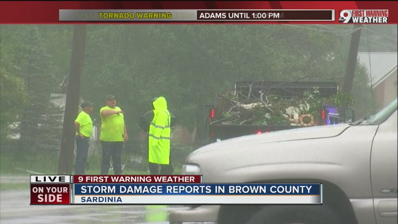 Ohio brown county sardinia - Sardinia Cleans Up From Storm Damage