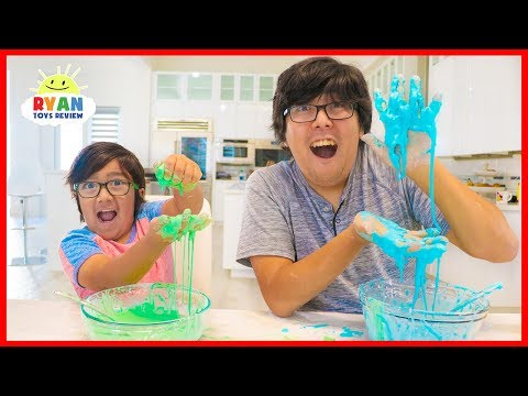 How to Make OOBLEK! DIY Slime at Home with Ryan!!!