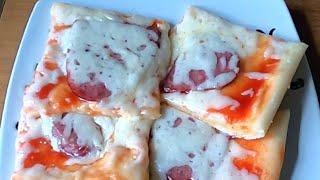 Домашняя пицца с сыром и колбасой в духовке Вкусный простой рецепт пиццы в духовке