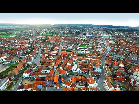 Aerial View of Sheringham, Norfolk, using DJI Inspire