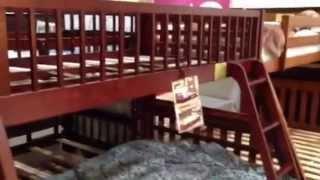 California Ii Cherry Wood Twin Full Bunk Bed Jidbk601ch