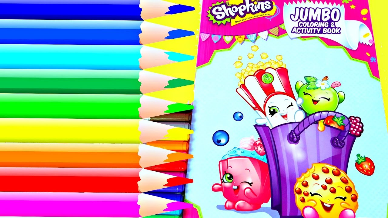 Coloreando Shopkins Libro de Actividades|Coloring Shopkins Activity ...