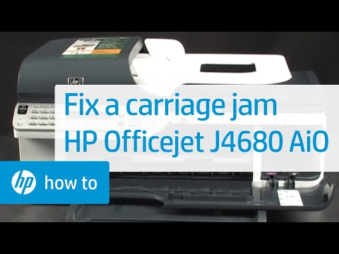 fixing a carriage jam hp officejet j4680 all in one printer youtube rh youtube com HP Officejet J4540 All in One Installer HP Officejet J4540
