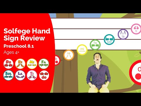Solfege Hand Sign Review - Solfege Singing Preschool Learning Videos
