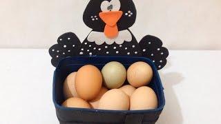 Pote de Sorvete Porta Ovos de Galinha Decorado