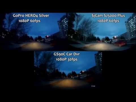 GoPro HERO4 vs Sj5000 Plus vs GS90C Car Dvr