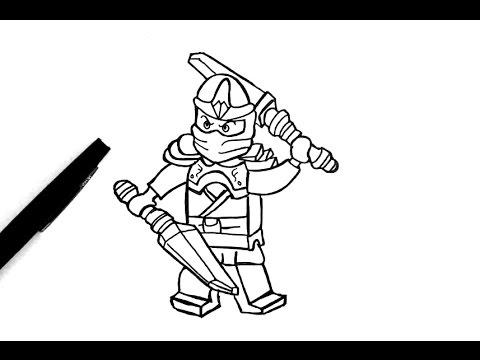 Comment dessiner jay de ninjago youtube - Comment dessiner ninjago ...