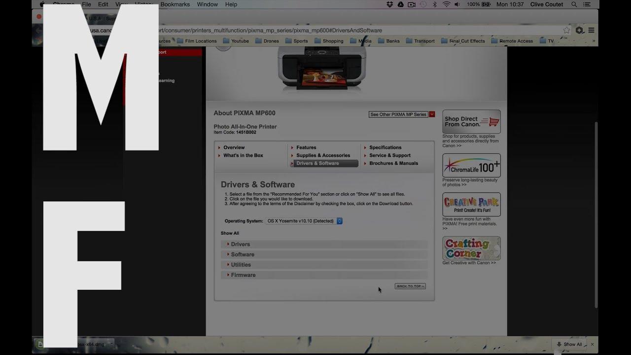 Canon Pixma E500 Driver Mac Drivers For Mac