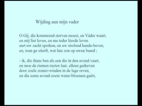 Karel Van De Woestijne Gedicht Wijding Aan Mijn Vader