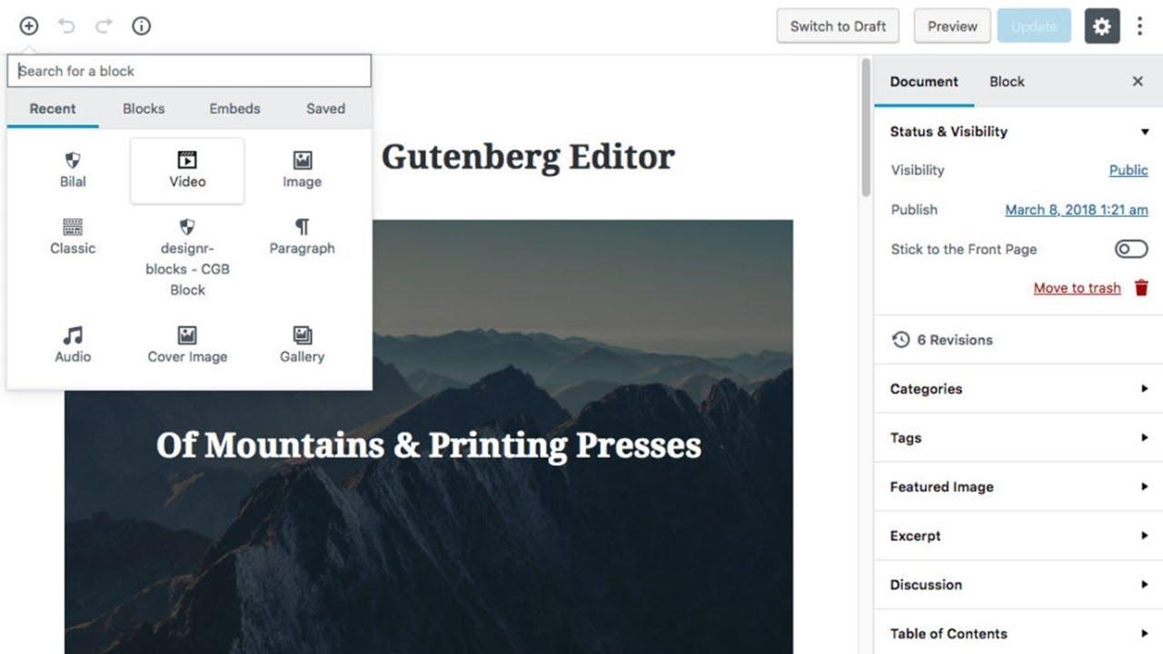 Page Builder Plugins Usage in WordPress 5 Gutenberg