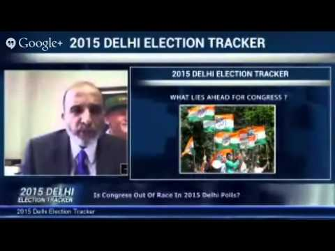 On #IndiaHangout 2015 Delhi Elections Tracker In Association With C Voter Streamed live on Jan 8, 20