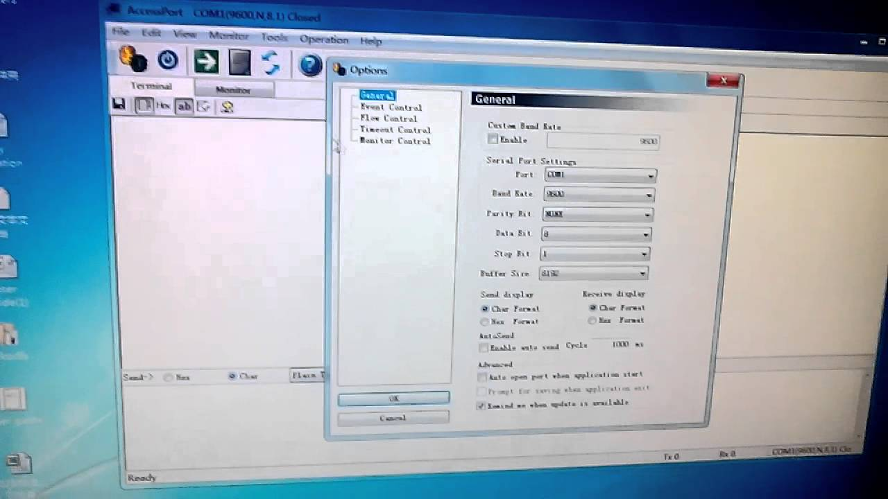 walkie talkie module parameters' configuration and send ...