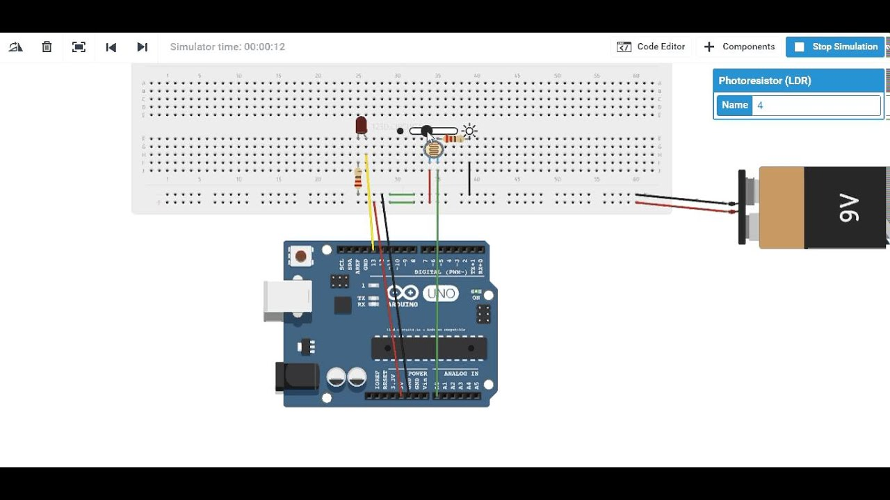 Electric Scheme For Photoresistor Ldr Controlling Led Youtube Beginners In Electronics