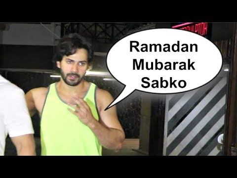 Varun Dhawan Wishes Ramadan Mubarak To Media