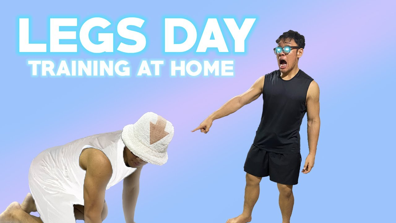 Download TRAINING LEGS DURING A PANDEMIC | WORKOUT IN MY ROOM