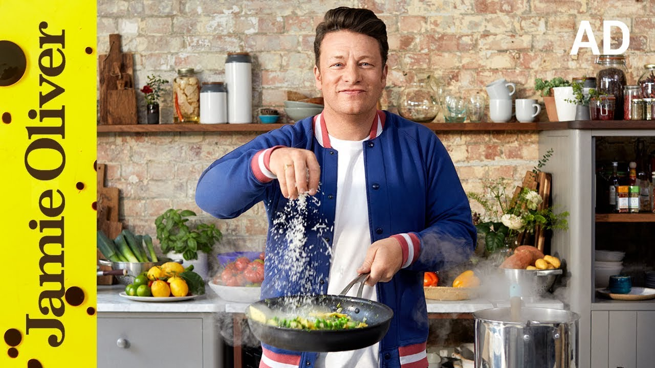 Creamy Pea & Courgette Pasta | Jamie Oliver | AD