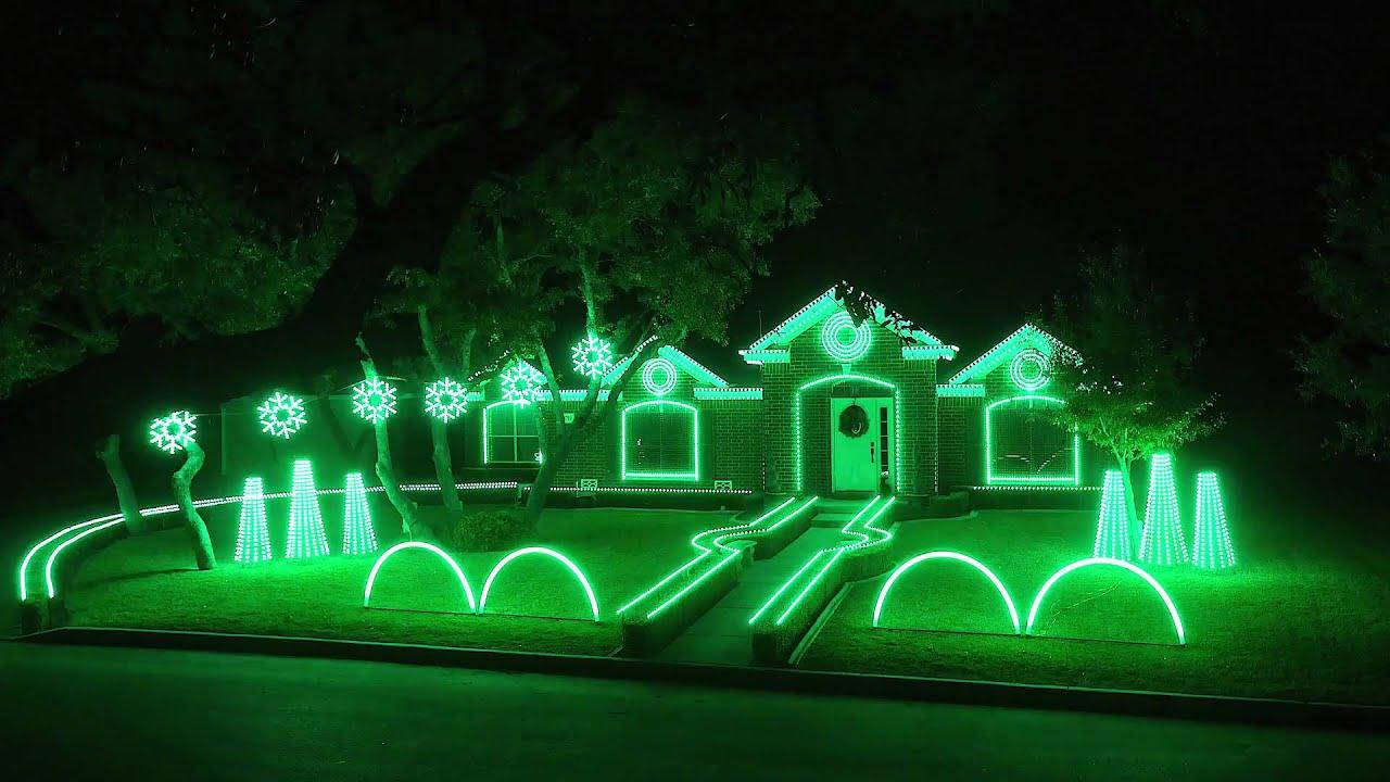 Best of Johnson Family Dubstep Christmas Light Show - YouTube