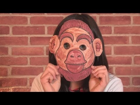 Paper Plate Monkey Mask - How to Make a Monkey Mask+ | Monkey ... | 360x480