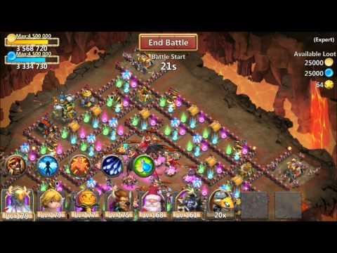 Castle Clash Elite Expert Dungeon 8 10/10 Farm Strategy BIG MOLTANICA