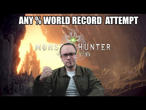 Any % World Record Attempt - (Monster Hunter World - PS4 Pro Performance Setting)