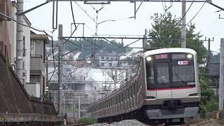 東急東横線5050系4000番台4105F菊名カーブ通過