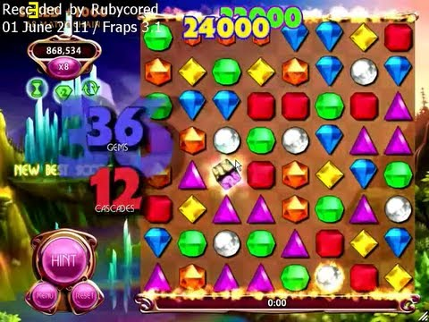 Bejeweled Blitz PC - 12 Cascade on x8