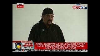Pres. Duterte at Hollywood actor na si Steven Seagal, binista ang mga sundalo sa Jolo