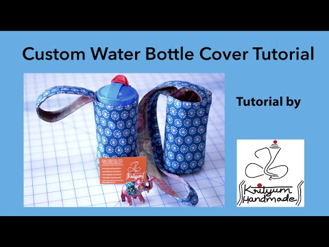 Tutorial #2 - How to sew a custom water bottle cover - YouTube : quilted water bottle holder pattern - Adamdwight.com