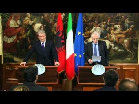 Conferenza stampa Monti - Berisha (07.05.12)
