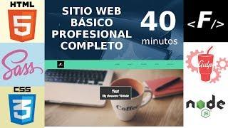 Sitio Web Básico Profesional en 40 minutos