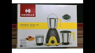 My Havells Sprint 500watt Mixer Grinder Unboxing
