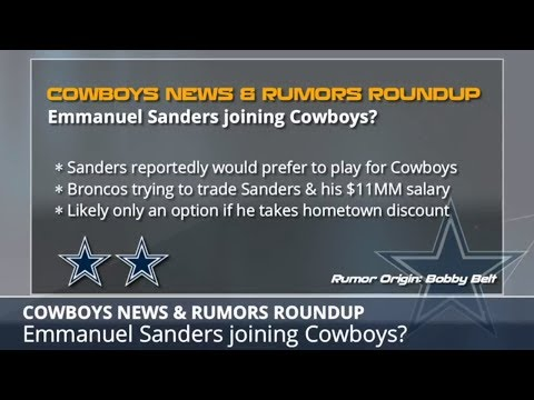 Dallas Cowboys Rumors: Latest On Emmanuel Sanders, Byron Jones, Kenny Vaccaro And Taco Charlton