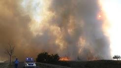 Feldbrand löst Großeinsatz in Canitz (Ortsteil Riesa) aus