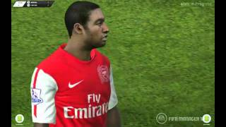 FIFA MANAGER 12 3D match highlights Arsenal vs Chelsea