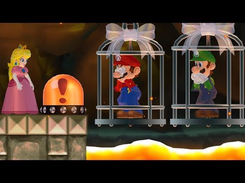 New Super Mario Bros. Wii - Peach wants to rescue Mario and Luigi