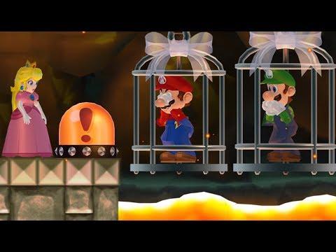 New Super Mario Bros. Wii - Peach wants to rescue Mario and Luigi