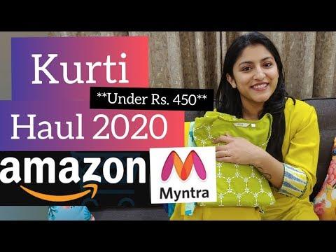 Kurti Haul | Try On Haul | Myntra Haul | Amazon Kurti Haul | Affordable Kurti Under 450