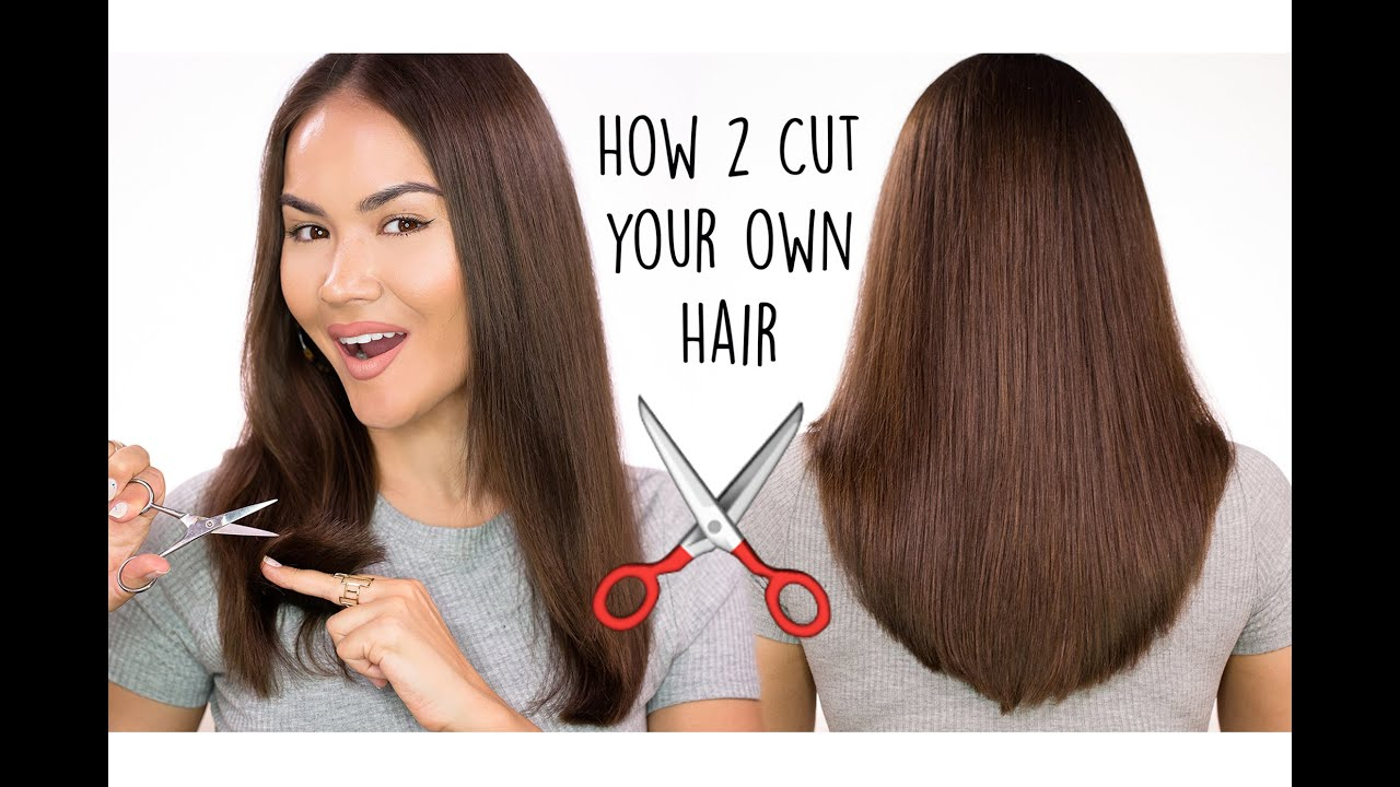 How To Cut Your Own Hair l DIY HAIRCUT TUTORIAL  Maryam Maquillage