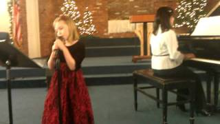 Winter recital - Nevalee plays piano and sings