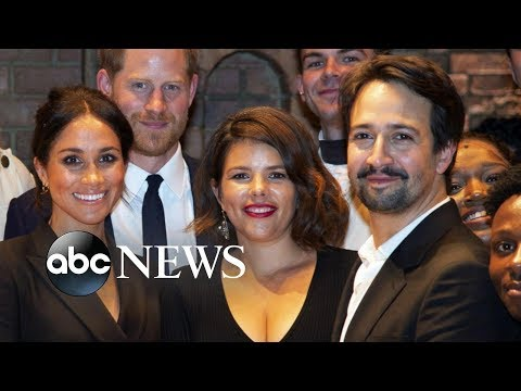Prince Harry, Meghan Markle meet LinManuel Miranda at Hamilton performance