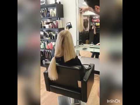 Lob Hair Cut Haute Coiffure Salon Boston