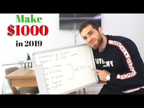 How To Make Your First $1000 Trading Stocks In 2019 (EASY)