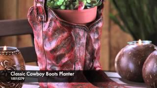 Classic Cowboy Boots Planter - 10015279