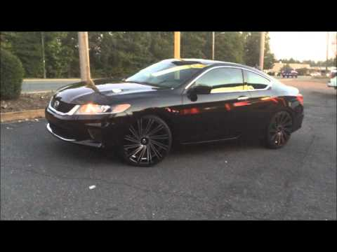 "2013 Honda Accord Coupe Rolling out of Rimtyme of Charlotte sitting on 22"" Massiv"