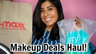 Marshalls, Nordstrom Rack, and TJ MAXX Makeup Deals Haul   High End Makeup for Cheap Haul
