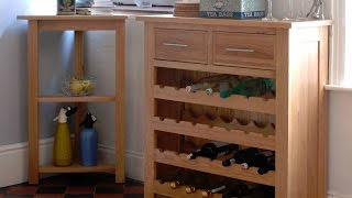 Rivermead Oak Wine Cabinet - Pinesolutions