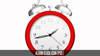 Free Alarm Clock Icon (PSD) Photoshop