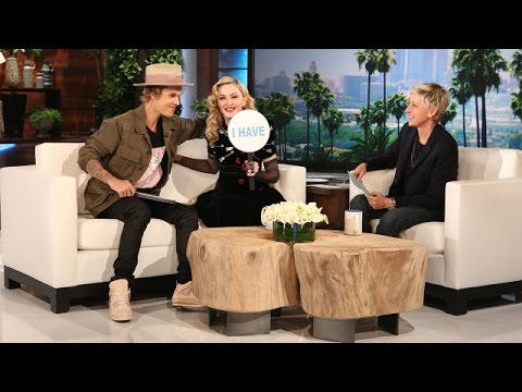 Ellen's Favorite Moments: Madonna and Justin Bieber Play Never Have I Ever